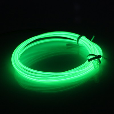 EL Wire Neon groen Light 5M Flexibele Dance Party Decor Licht Zonder Controller