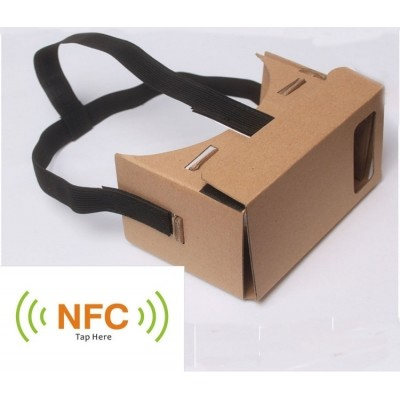 Gratis verzending 3D Virtual Reality Bril Cardboard card board VR 3D Virtual Reality Bril + STRAP NFC *universeel*
