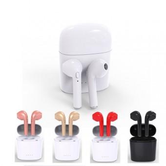 Bluetooth in ear oortjes HBQ-I7S in-ear airpods earpods vervanging draadloos DUBBEL 5 kleuren met laadbox